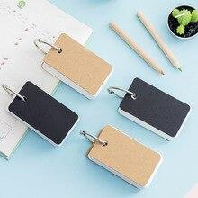 Creative Kraft Paper Mini Loose-leaf Notebook Student Portable Hand Book Ring Binder Kawaii Card Tearable Notepad Memo Pad