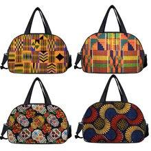 Afro Pattern Travel Bag Women Tote Duffle Bags Africa Black Ladies Handbags Multifunctional Storage Bags  Shoe Bags For Travel