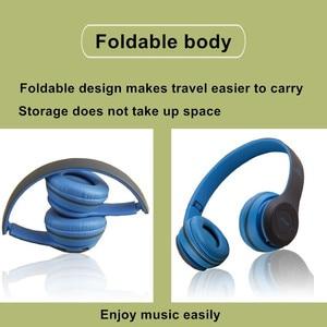 Image 4 - אלחוטי אוזניות מתקפל סטריאו בס Bluetooth אוזניות קיד ילדה קסדת מתנה, עם מיקרופון USB Bluetooth 5.0 מתאם עבור טלוויזיה משחקים