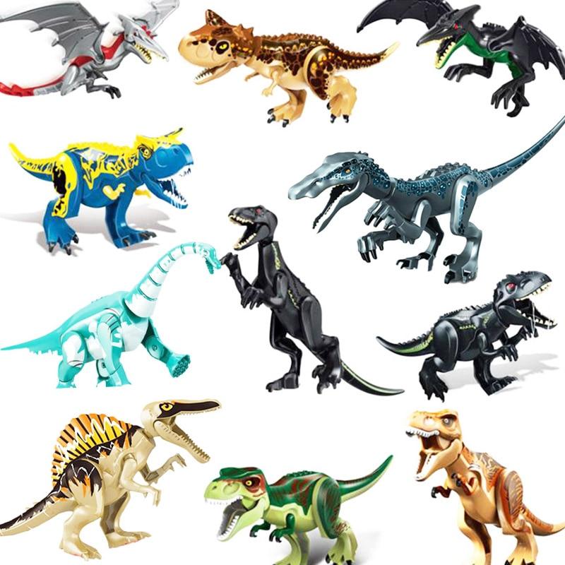 2019 NEW Jurassic Dinosaur World 2 Park Building Blocks Figures Tyrannosaurus Indominus Rex Indoraptor Kid Xmas Toy For Children