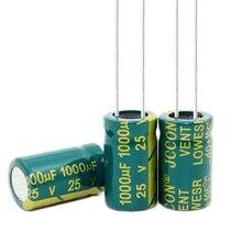 25 V 1000 UF 1000 UF 25 V 1000uf25v 25v1000uf Elektrolitik Kapasitörler Boyutu: 10*13 MM