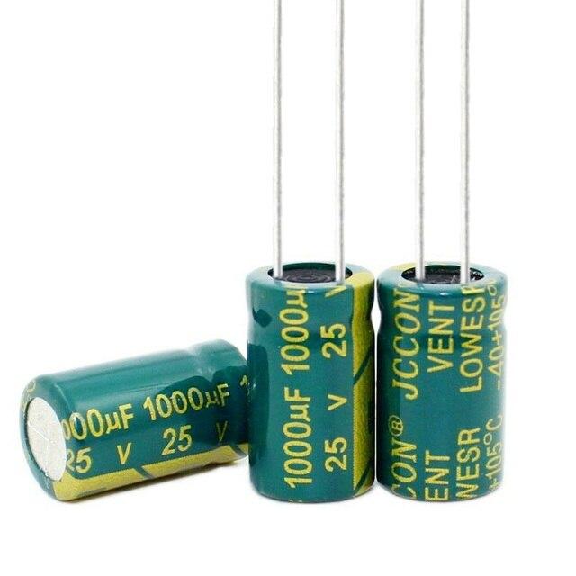 25V 1000UF 1000UF 25V  10MMX13MM  Electrolytic Capacitors Size:10x13MM