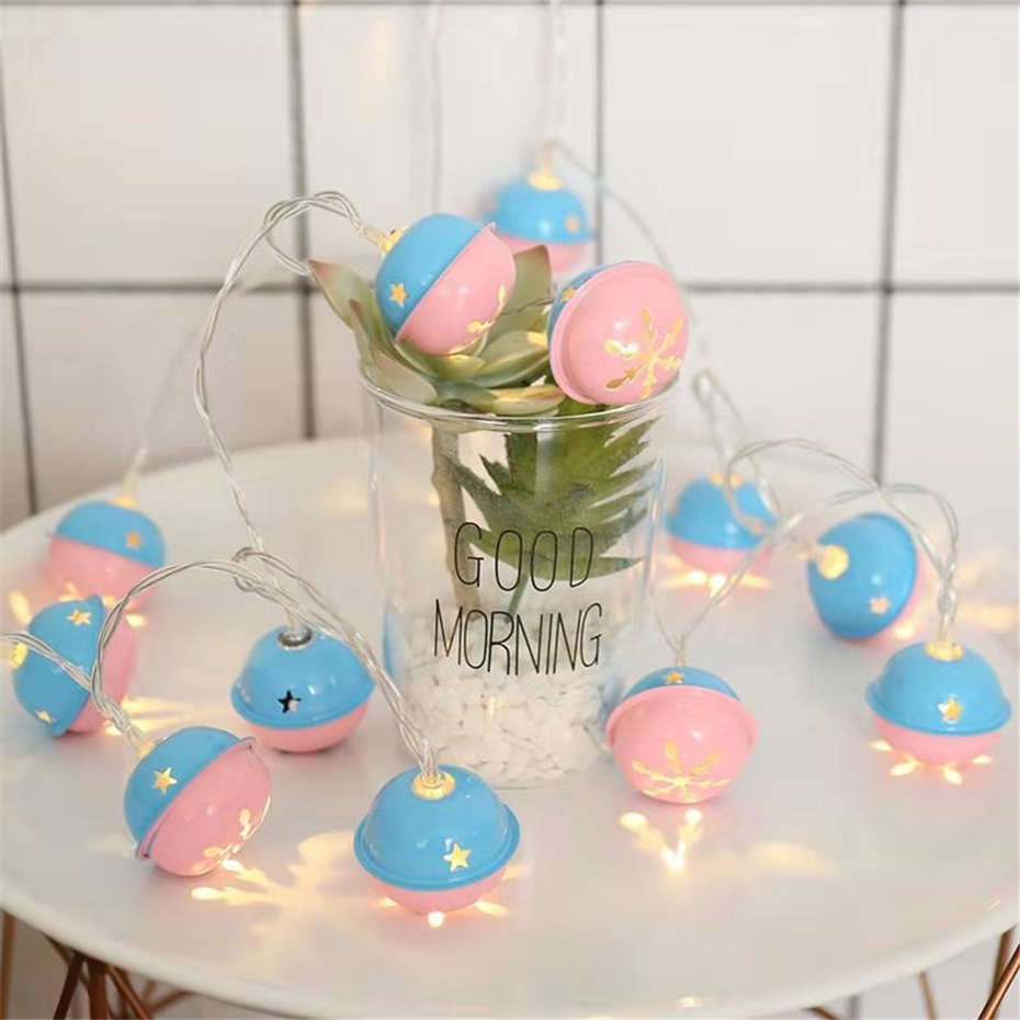 Battery Power Bell Garland LED Lights String Indoor Bedroom Party Gifts Fairy Tale Decoration Lights For Christmas New Year