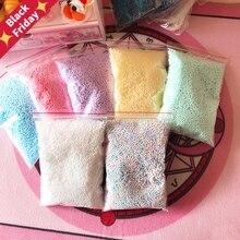 1 упаковка DIY снежные частицы грязи аксессуары слизи шарики Маленькие пенопластовые бусины для пенного наполнителя для DIY ремесла поставки 2-6 мм