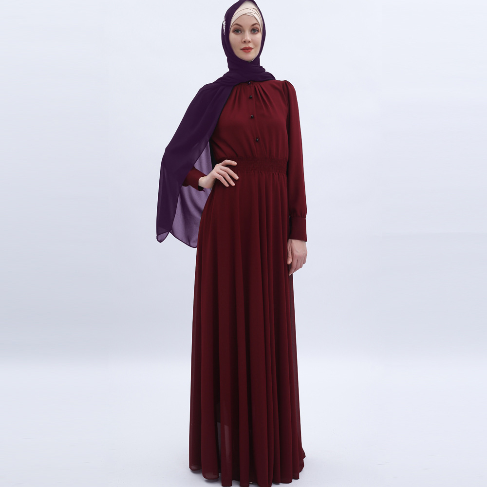 Fashion Abayas for Women Chiffon Muslim Dress Turkey Muslim Women Hijab Dress Islam Caftan Marocain Dresses Vestidos Eid Mubarak 2