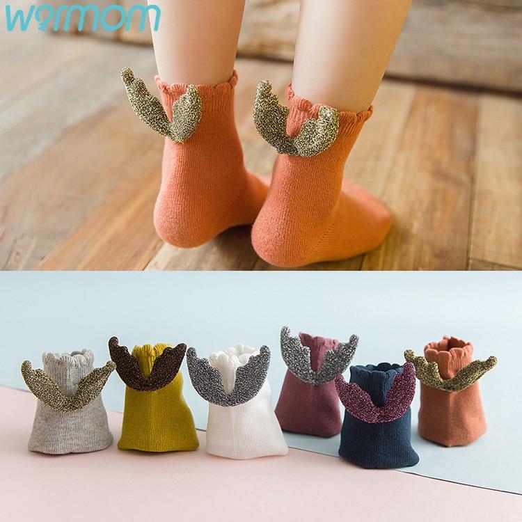 WARMOM Angel Wing Socks Baby Girl Boy Creative Fashion Socks Shirt-Socks Children Soft Knitted Striped Scoks Baby Care Supply