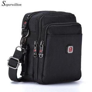 Image 2 - Soperwillton Mens Bag Shoulder Crossbody Bags Oxford Water resistent Travel Belt Bags Men Zipper Bag Male #10452