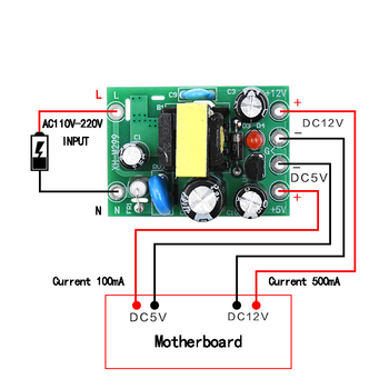 AC-DC 110-220V Switching Power Supply Module AC-DC isolation PCB Board Input AC 110-220V Output 5V /12V /100mA /500mA