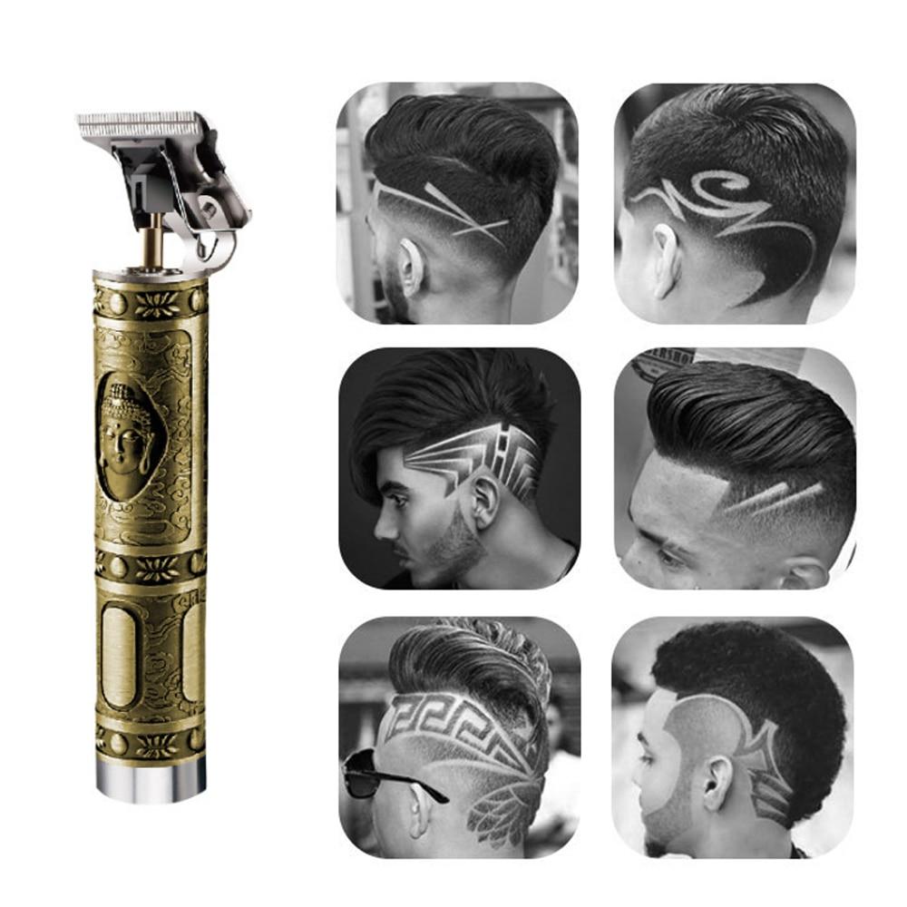 KM-1974 Professional Hair Clipper Barber Carving Crafs Buddha Retro Cordless Trimmer Men T-shape Hair Cutting Machine