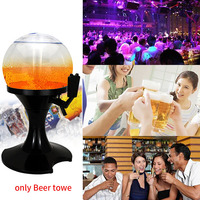 3.5L Beer Tower Practical Durable Beverage Dispenser Cold Draft Bar Pourer Plastic Ice Core Container Ball Shape Portable Tool