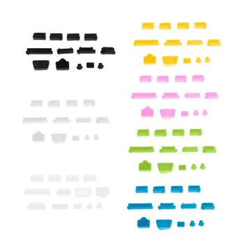 13 sztuk wtyczki przeciwpyłowe silikonowy Port danych USB zestaw ochraniaczy gniazda laptopa zaślepka do obudowy pokrywa komputer stancjonarny akcesoria do notebooków tanie i dobre opinie CN (pochodzenie) Port ładowania Wtyczki Pyłu Silicone Blue Green Yellow Pink White Black Clear 1 Set(13 Pcs)