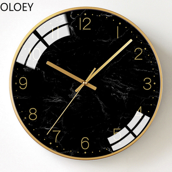 Luxury Large Wall Clock Modern Design Gold Black Living Room Bedroom Big Wall Watch Mechanism Kitchen Best Selling 2019 Products