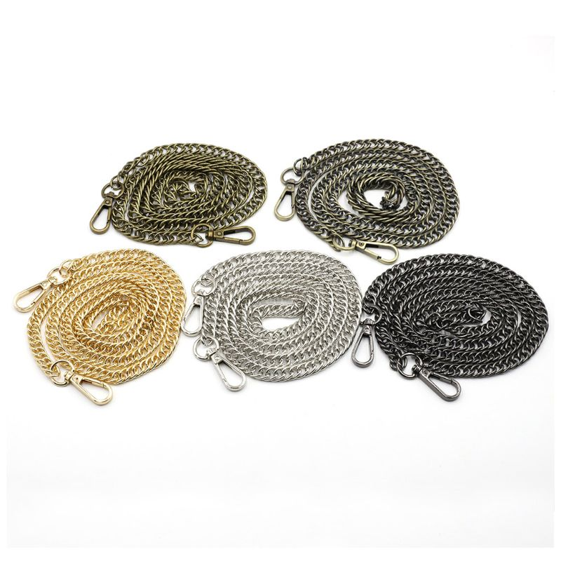 120cm Metal Replacement Purse Chain Strap Handle Shoulder Crossbody Handbag Bag X5XA