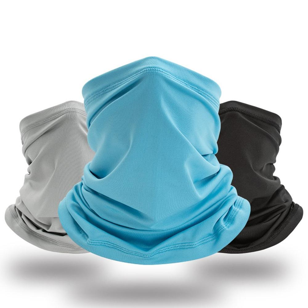 Face Covering Mask Biker Gaiter Tube Snood Scarf Neck Cover Seamless Neck Gaiter Scarf Outdoor Cycling