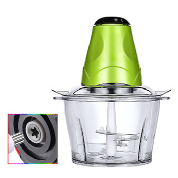 2L Automatic Powerful Electric Meat Grinder Multifunctional Food Processor Electric Chopper Meat Slicer Cutter Blender 4