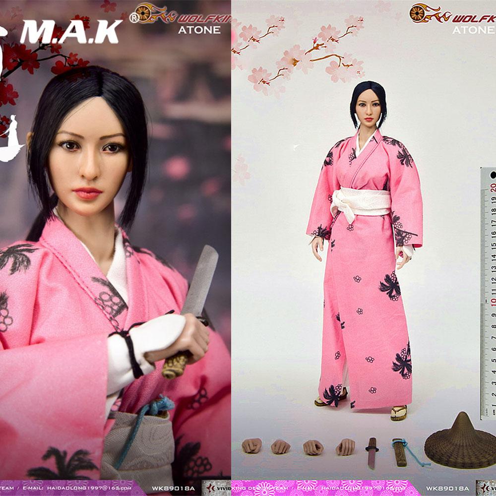 WK89018A Collectible 1/6 Female Solider Japanese Ronin Series ATON Atung Female Action Figure Model  Improved Version