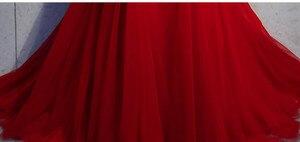 Image 5 - Borgogna Abito Da Sera Abendkleider Vestito Da Partito Dellinnamorato Della Sirena Con I Appliques Abiti Da Sera Abito Lungo 2019 Robe De Soiree