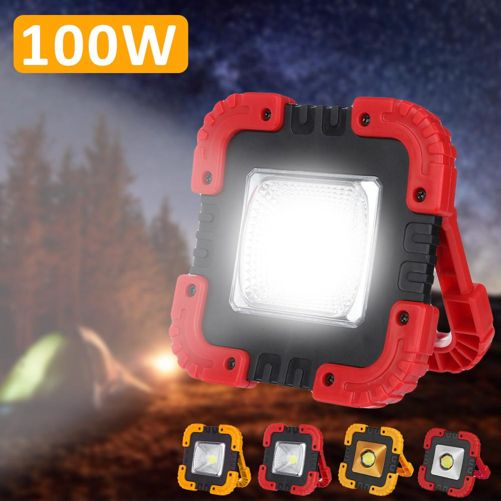 Energia solar 180 graus lanternas portáteis ajustáveis luz da bateria embutida usb recarregável holofote para acampar
