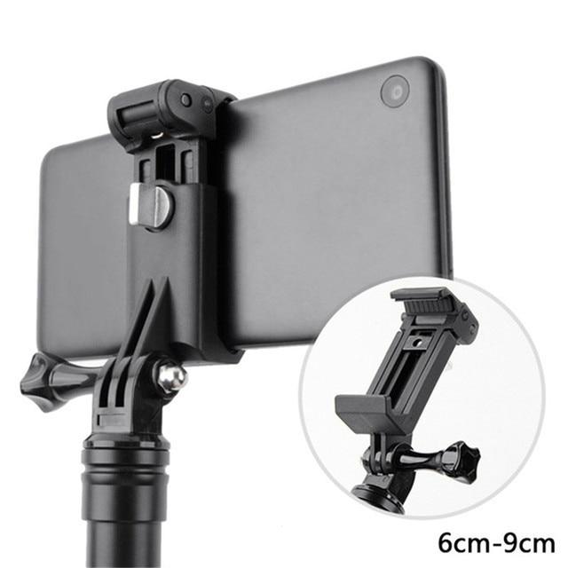 휴대 전화 클립 마운트 브래킷 클램프 삼각대 어댑터 이동 프로 아이폰 xiaomi 화웨이 selfie 스틱 monopod 막대 홀더 액세서리