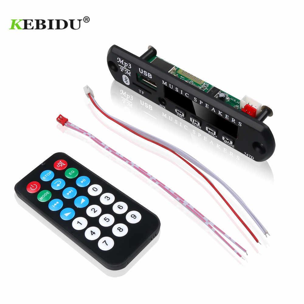 KEBIDU DC 12V MP3 WMA Scheda di Decodifica Audio Modulo USB TF Radio Senza Fili di Musica MP3 Player Remote di Controllo Per accessori per auto