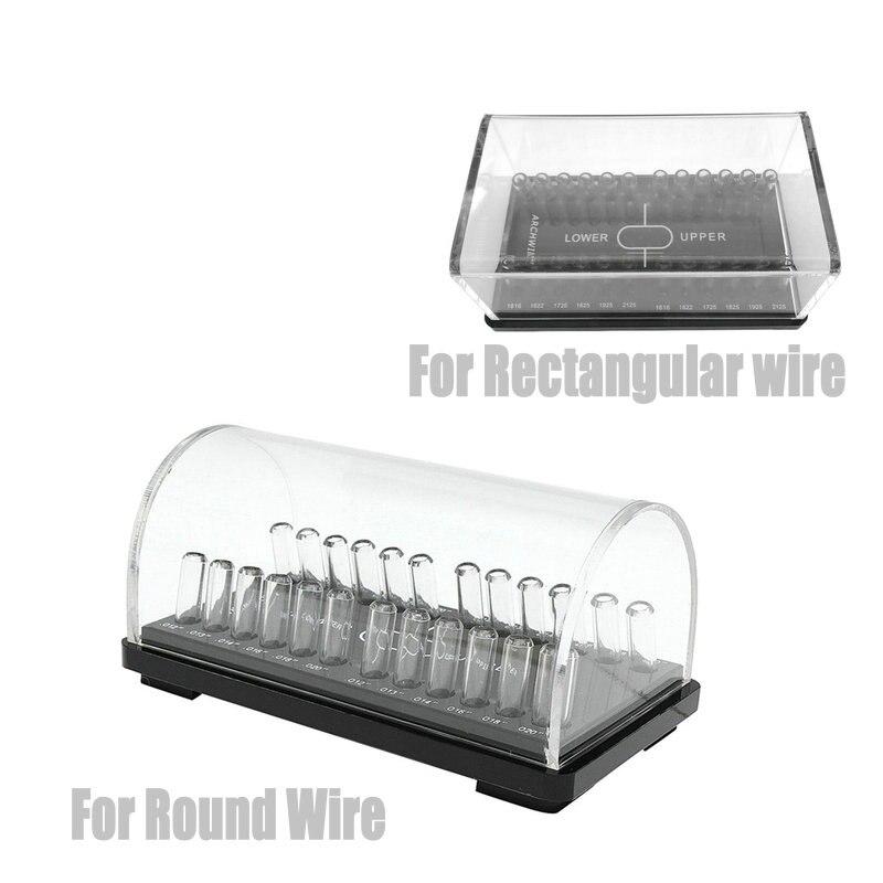 Dental Acrylic Organizer Holder For Orthodontic  Round/Rectangular Arch Wires Case