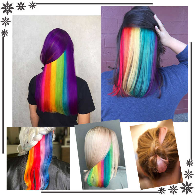 AILIADE Vrouwen Enkele Clip 50cm longOmbre Gekleurde Lange Rechte Haar strengen Clip Hair Extensions Synthetische Haarstukjes