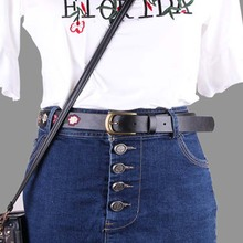 1шт Ремни для женщин мода искусственная кожа Леди Винтаж китайский стиль вышивка цветок джинсы пояс черный дамы