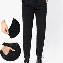Women's Jeans Pants Woman Trousers Bananas High-Waist Clothing for Baggy Undefined