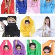 11 Colour Belly Dance Wrap Head Scarf Dancing Costume Chiffon Adult Shawl Veil Dance Wear