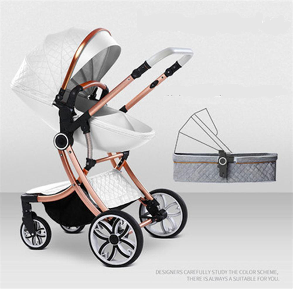 Free Shipping 2020 New 2 In 1 Baby Stroller High Landscape Carriage Double-sided Newborn Car Similar To Aulon Babyfond Pram