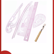Ruler Yardstick-Sleeve Cutting Curve-Set Tailor-Measuring-Kit Sewing Clear French Arm