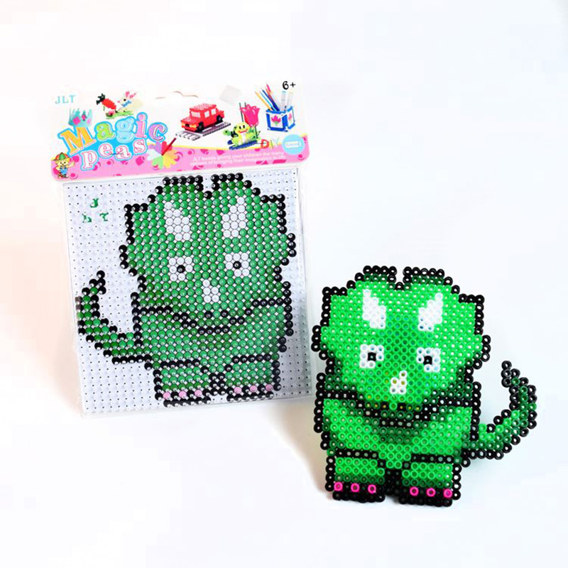 Educational DIY Toys Fuse  Beads Horned Dinosaur 5 Hama Fuse Beads  Learning Toys For Children Fuse Beads