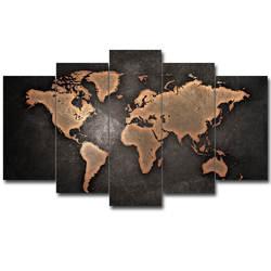 Импортные товары элемент декоративной живописи 5 суставов Ретро Простой славный фон карта холст вешается на стену производители целы