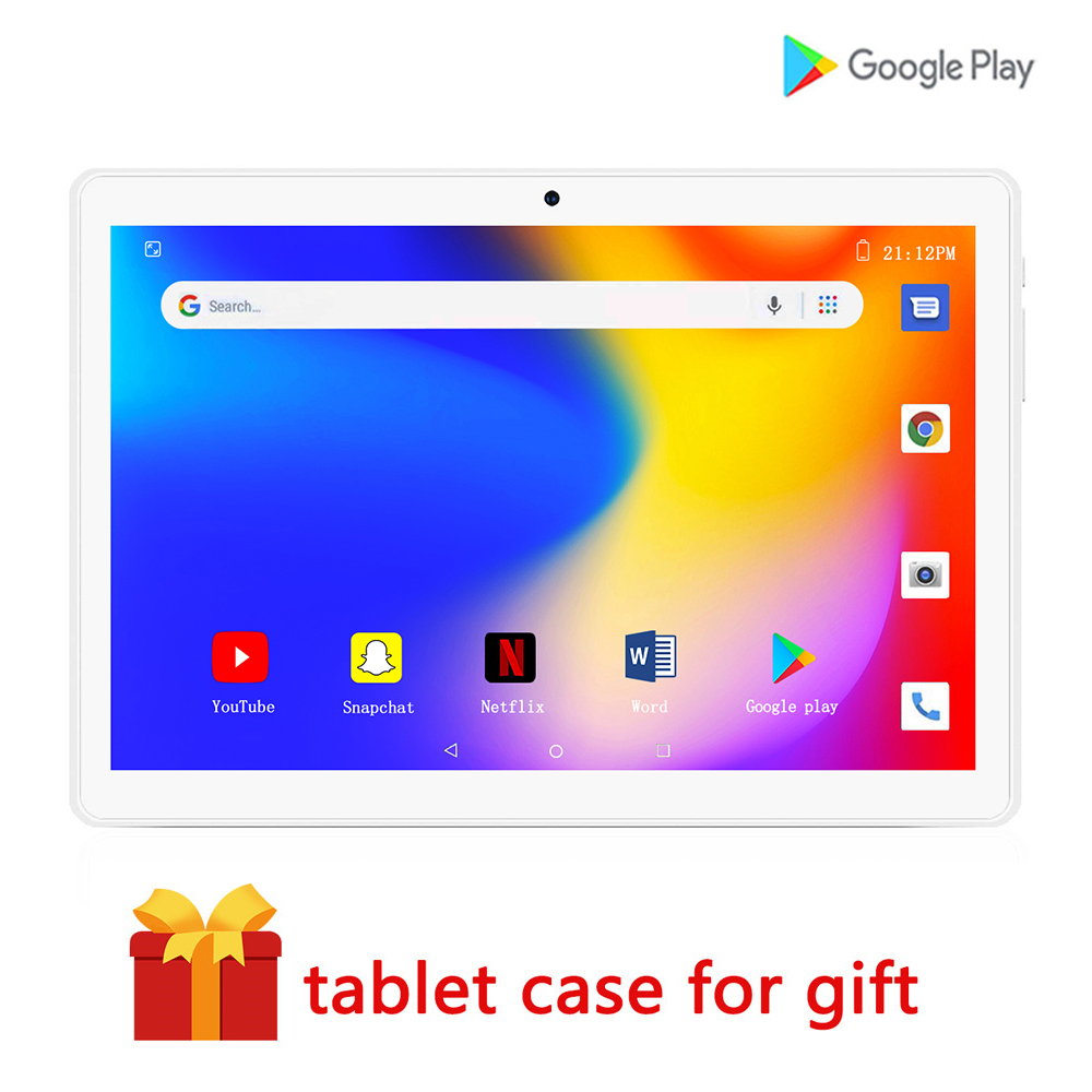 Tablets 10 Inch Tablets Android 9.0 Quad-core 2G RAM And 32G ROM 1280x800 HD IPS Resolution Support WIFI Bluetooth SIM Card