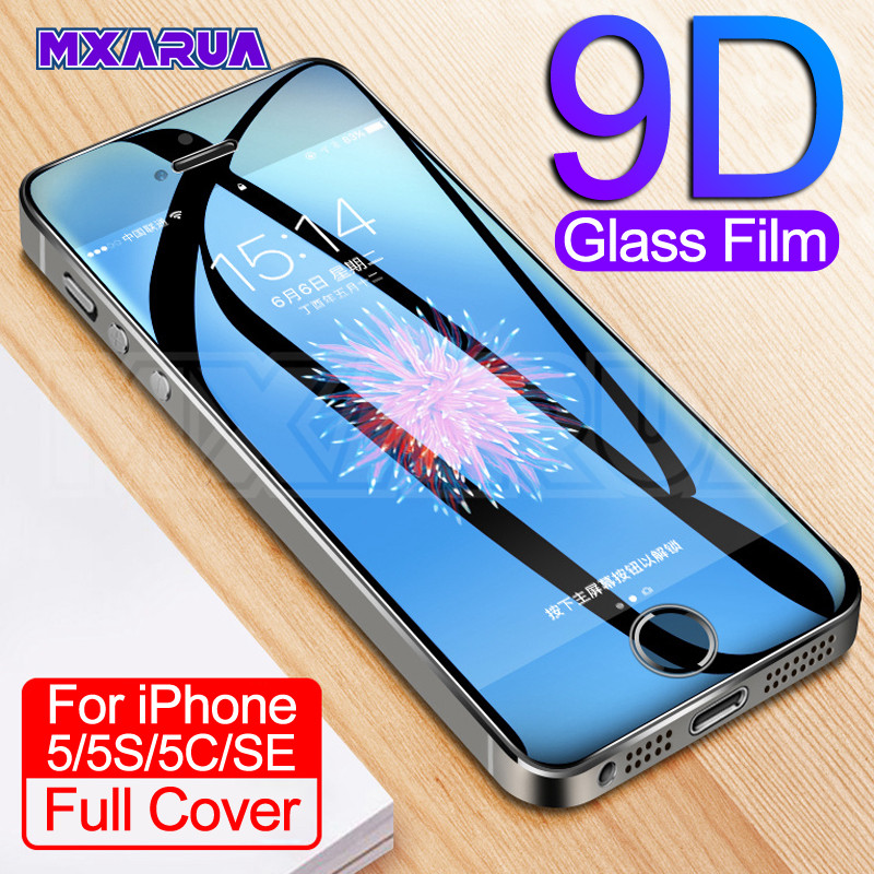 9H Tempered Glass On The For Apple IPhone 5 5S 5C SE Anti-Burst Tempered Screen Protector Glass For IPhone 5S SE Protective Film