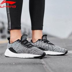 Li-Ning Women FLEX RUN Running Shoes Breathable Flexible Light Sneakers Mono Yarn LiNing li ning Sport Shoes ARKN018