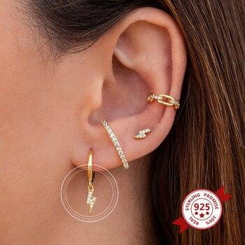 Small Hoop Earrings for Women 925 Silver Hoop Earrings Round Circle Hoop Earrings For Women Girls Fashion Jewelry Gift