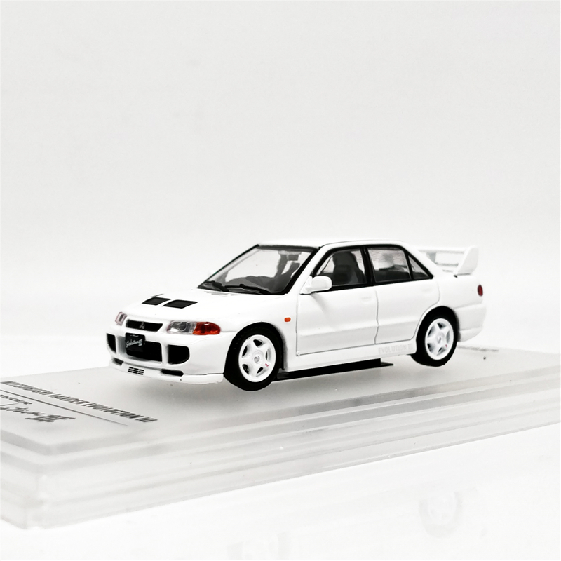 INNO INNO64 1:64 Mitsubishi Lancer Evolution III White With Sperate Decals And Exrea Wheels Diecast Model Car