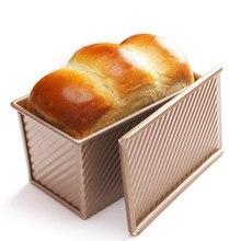 Chefmade 250g 300g 450g torradas molde caixa de brinde com tampa antiaderente pan bolo torrada acessórios de cozinha em casa ferramentas de cozimento
