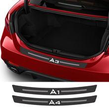 Araba çıkartmaları Audi A3 8P S3 8V A4 B8 B6 B7 A6 C6 C5 C7 A5 Q3 q5 Q7 TT A1 A2 A7 A8 Q2 araba aksesuarları karbon Fiber bagaj çıkartması