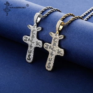 Personalized Cactus Jack Pendant & Necklace Iced Cubic Zircon Plated Gold Silver Color Hip Hop Jewelry For Men Women Rapper Gift(China)