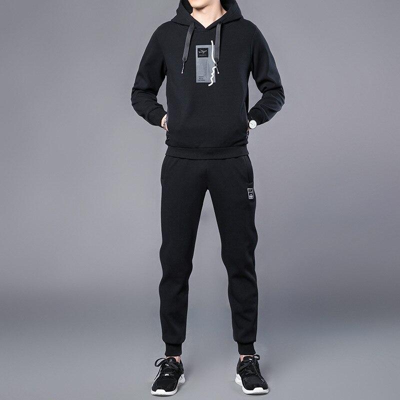 2018 Autumn New Style Hoodie Suit Men Leisure Sports Suit Korean-style Handsome Slim Fit Trend MEN'S Suit