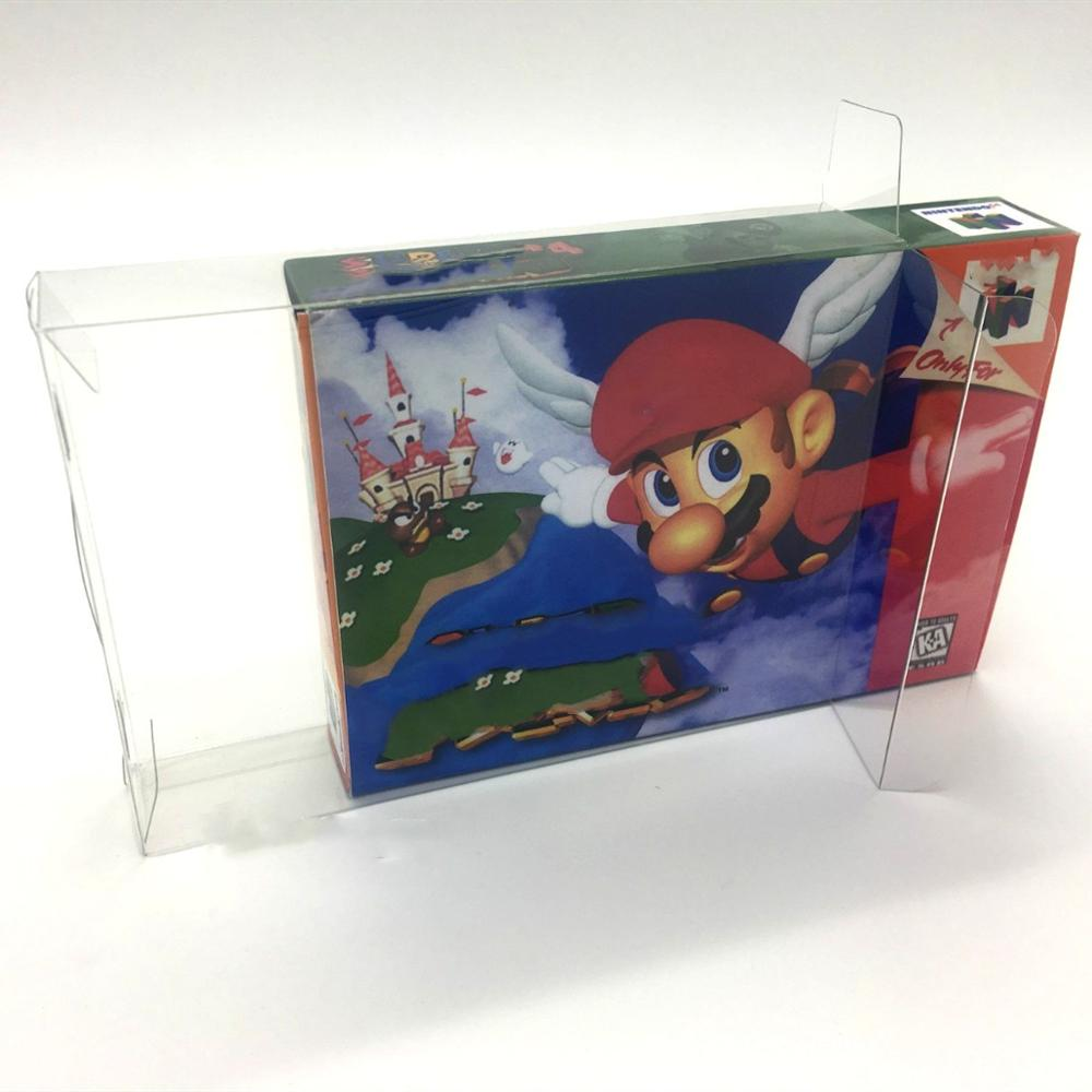 PET Display Box Collection Box Protection Box For European And American Version Nintendo 64 N64 Games