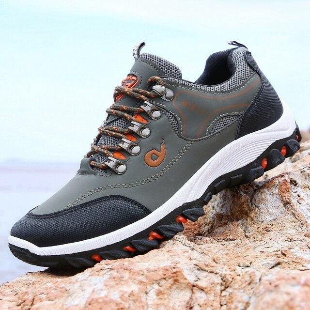 Men Hiking Shoes Trekking Sneakers Man Fishing Camping Shoes Hunting Boots 2