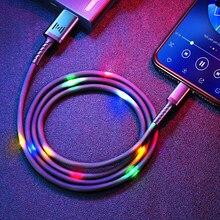 Câble USB GENAI pour iPhone 12 Pro Max 11 Xs Max X 8 Plus câble 2.4A câble de charge rapide pour iPhone 7 câble de chargeur ligne de données USB