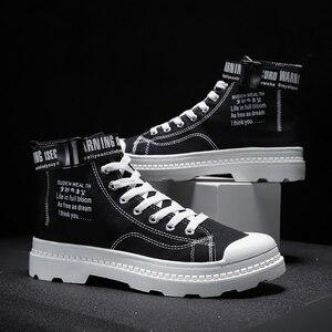 Image 3 - BIGFIRSE 남성 캐주얼 신발 높은 탑 편안한 남성 패션 신발 비 슬립 남성 스니커즈 야외 레저 신발 Zapatillas Hombre