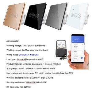 Image 2 - Tiêu Chuẩn EU Ánh Sáng Mờ Wifi Điều Khiển Từ Xa Ứng Dụng Điều Khiển Công Tắc Cảm Ứng Thông Minh Tự Động Hóa Công Tắc 220V Tuya Điện Thoại Tắt/Mở bật Lửa Tối Màu Hơn