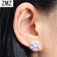 ZMZ 2019 30pcs cute resin earring gold/silver plated unique with pearl & shinny stones fashion jewelry for women