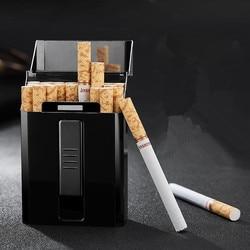 Zapalniczki elektroniczne dla Weman Man może zmienić papierośnicę z drutu zapalniczka USB papierośnica ładowanie wiatroszczelne bezpłomieniowe