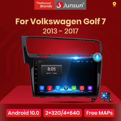 Junsun Android 10 AI Voice Control  Car Radio Multimedia Player For Volkswagen Golf 7 2013-2017 Navigation GPS Auto 2 din no dvd